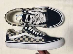 9c1a853154 Vans Old Skool Pro Checkerboard Suede Dress Blues VN000ZD4QO3 MEN ...