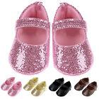 0-18 Months Newborn Baby Girl Shoes Bling Crib Shoes Prewalker Cute Soft Sole