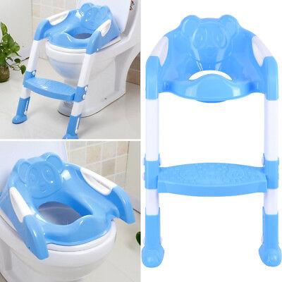 3 in 1 Toilettentrainer Kinder Baby Toilettensitz Lerntöpfchen Faltbar Leiter