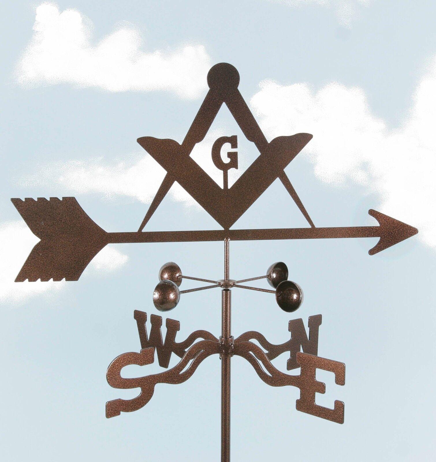 Masons Weathervane - Masonic - Freemasons - Mason Vane - with Choice of Mount