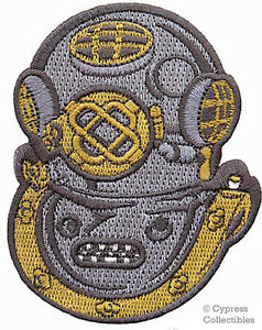 SCUBA-DIVING-Mark-V-Navy-Helmet-PATCH-embroidered-NEW-iron-on-MK-5-APPLIQUE-gift