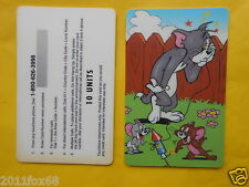 schede telefoniche telefonkarte phone cards 10 units tom and jerry tom & jerry