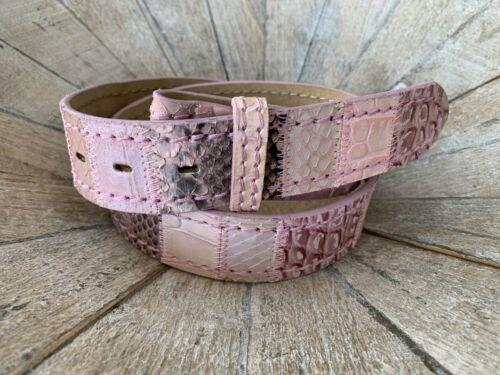 UmjuBELT Ledergürtel Patchwork rosé