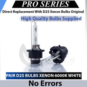 Pair D1S Bulbs Xenon Pure White 5000K Low Beam Headlight Volvo XC70 II 2007-2015