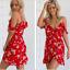 New-Womens-Summer-Floral-Boho-Chiffon-Dress-Cold-Shoulder-Beach-Mini-Sun-Dresses