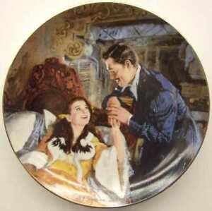 Gone-With-The-Wind-MGM-50th-Anniversary-Plate-Scarlett-amp-Rhett-039-s-Honeymoon