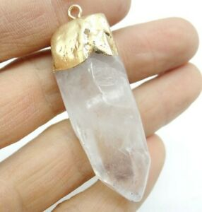 52-18MM-Natural-White-crystal-pendant-Gemstone-Making-jewelry-necklace-C286