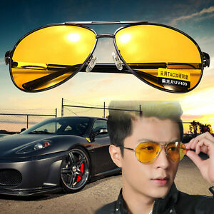51211dd0e2 Image is loading UV400-Polarized-Yellow-Lens-Sunglasses-Night-Driving -Vision-