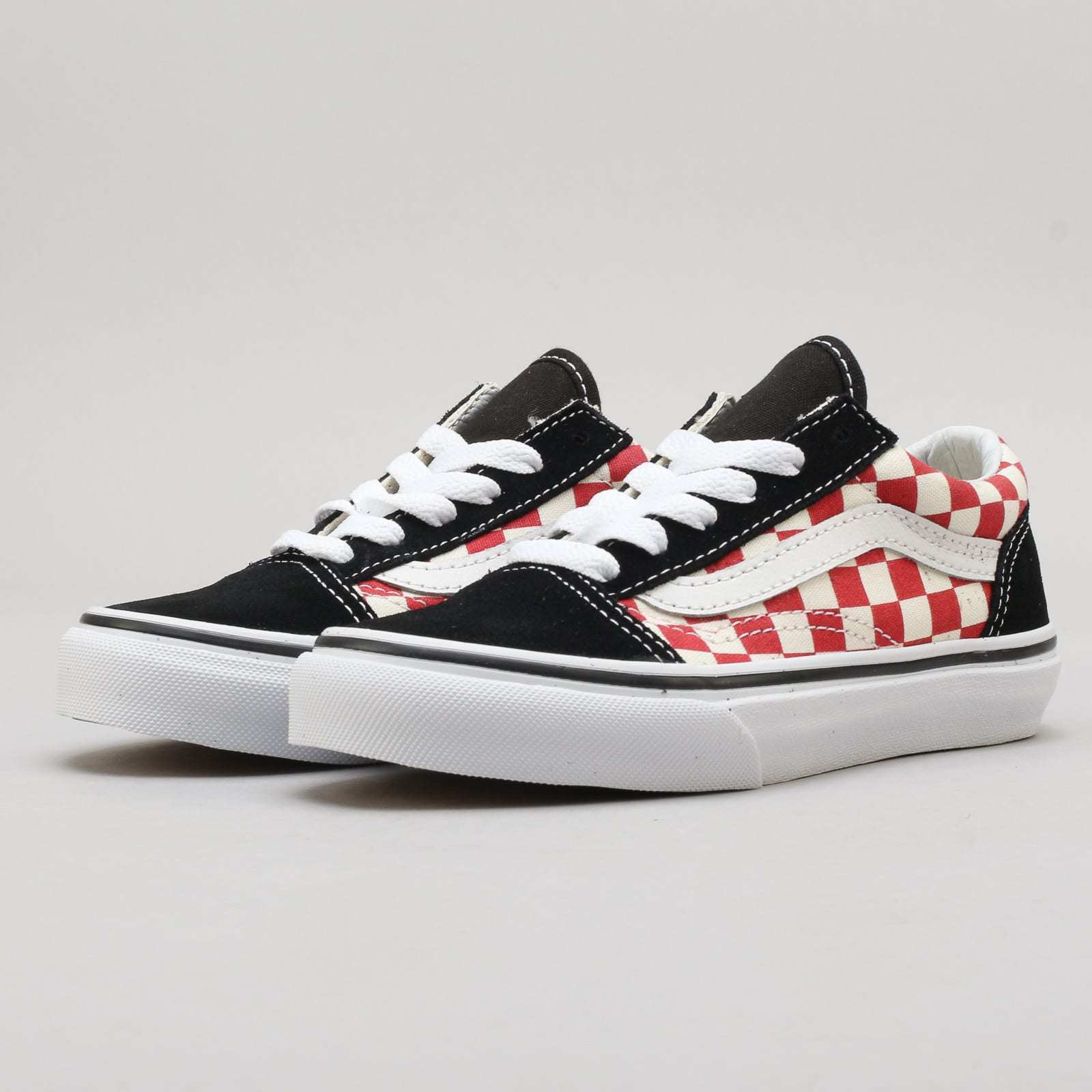 Vans Old Skool (checkerboard) schwarz / ROT K 12.5 (eur 30)