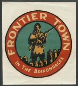 North-Hudson-Schroon-Lake-NY-c-1950s-FRONTIER-TOWN-IN-THE-ADIRONDACKS-Decal