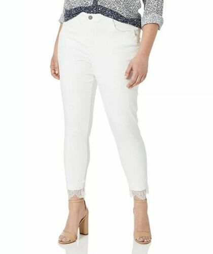 Democracy Women/'s Size 18W White High Rise Slimming Ankle Jeans NWT $88 Retail