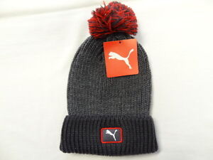 Image is loading Puma-Cat-Patch-Pom-Beanie-Periscope-Tango-Red- 34caea92d92