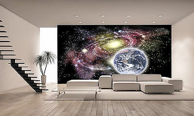 Planet Earth and Galaxy Wall Mural Photo Wallpaper GIANT DECOR Paper Poster
