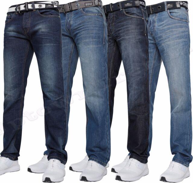 d09145f7fe Mens Crosshatch Straight Leg Dark Blue Jeans All Waist Sizes ...