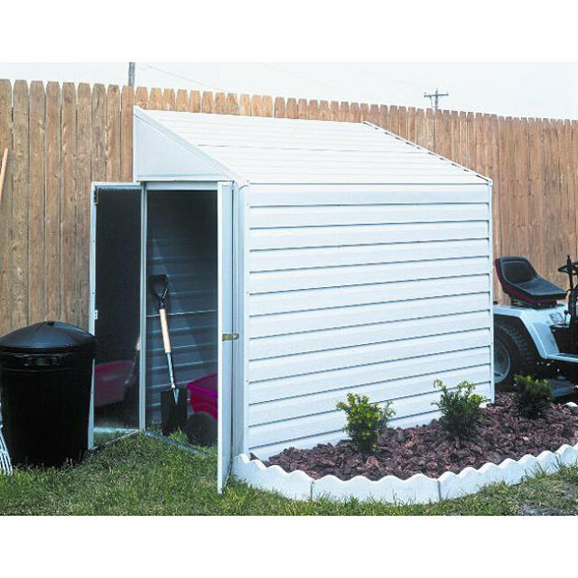 Delicieux Arrow Shed YS47 A Yard Saver 4 X 7 Steel Storage Garden Outdoor Home White