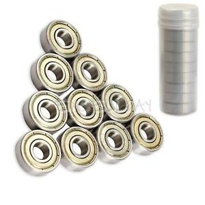 10-pcs-Ball-Roller-Skateboard-Sco-oter-Blade-Bearings-Wheels-Silver-ABEC-5-608ZZ