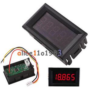 Red-0-36-034-LED-5-Digit-DC-0-33-000V-Digital-Voltmeter-Voltage-Meter-Car-Panel