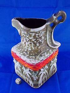 Big 70er Fat Lava Vase Pferde BAY 79-25 WGP Design Roth Space Age Ära 25cm