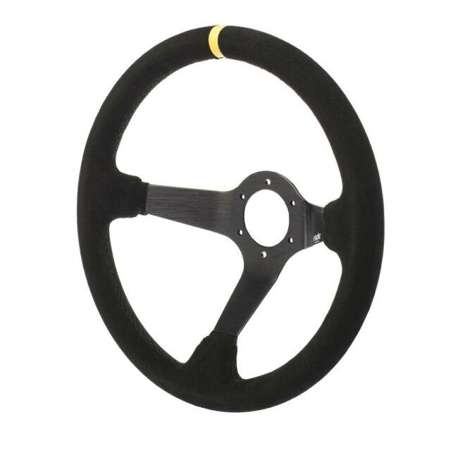 Volante sportivo Tuning calice camoscio nero Carrera 350mm