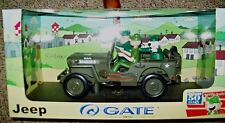 GATE, BEETLE BAILEY, SARGE & OTTO IN JEEP ADVENTURES, 1:18 SCALE DIECAST, GC
