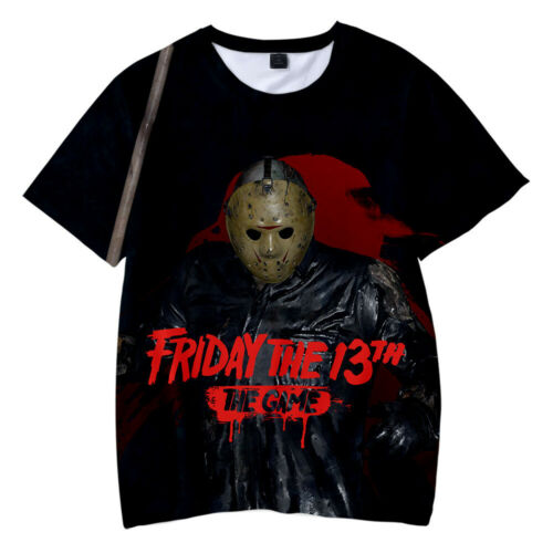 Friday the 13th The Game T-shirt Men/'s Fashion Short Sleeve Top Tee 9 Size