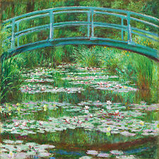 Claude Monet 12 x 12 inch Japanese Footbridge on Zweigart Needlepoint Canvas
