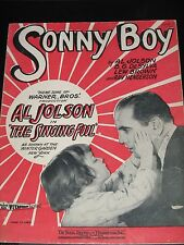 """Sonny Boy - 1928 Sheet Music - from """"The Singing Fool"""", Al Jolson photo cover"""
