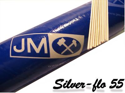SILVER-FLO 55 SOLDER 1.5MM dia ROD X 200MM LONG  SILVERFLO SILVER FLO 55/% silver