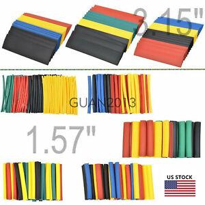 WOW-328PCS-8-Size-2-1-Polyolefin-Heat-Shrink-Tube-Sleeve-Wrap-Wire-Assortment