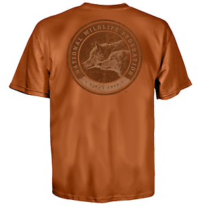 Nwf National Wildlife Federation Wolf Logo Animals Nature Mens Shirt