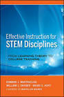 Effective Instruction for STEM Disciplines: From Learning Theory to College Teaching by Brian S. Hoyt, Edward J. Mastascusa, William J. Snyder (Hardback, 2011)