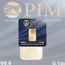 Goldbarren 1 Stk. 0,10g zertifiziertes Feingold