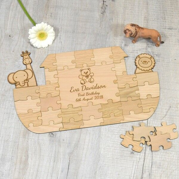 Noahs Arc Jigsaw Puzzle Guestbook For Baby Shower First Birthday Gift Present