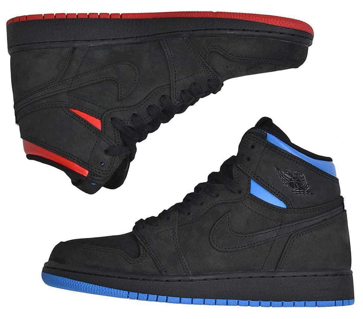 Nike Air Jordan 1 Retro High OG Quai 54 Q54 Size 13. AH1040-054. Black Red bluee