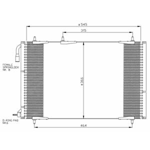 Condensateur Climatisation-AD 35836