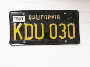 Vintage ORIGINAL 1963-64 California License Plate Super Clean