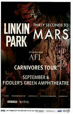 LINKIN PARK - THIRTY SECONDS TO MARS Carnivores Tour 2014 Concert / Gig Poster