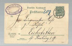K-205-1893-GA-DR-5-Pfg-Rastatt-Eichstetten-Fa-Eisler-Nachf