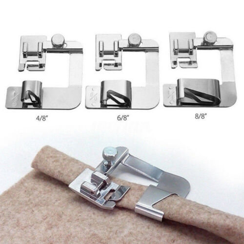 3Pcs//Set domestic sewing machine foot presser rolled hem feet for brother sin G4