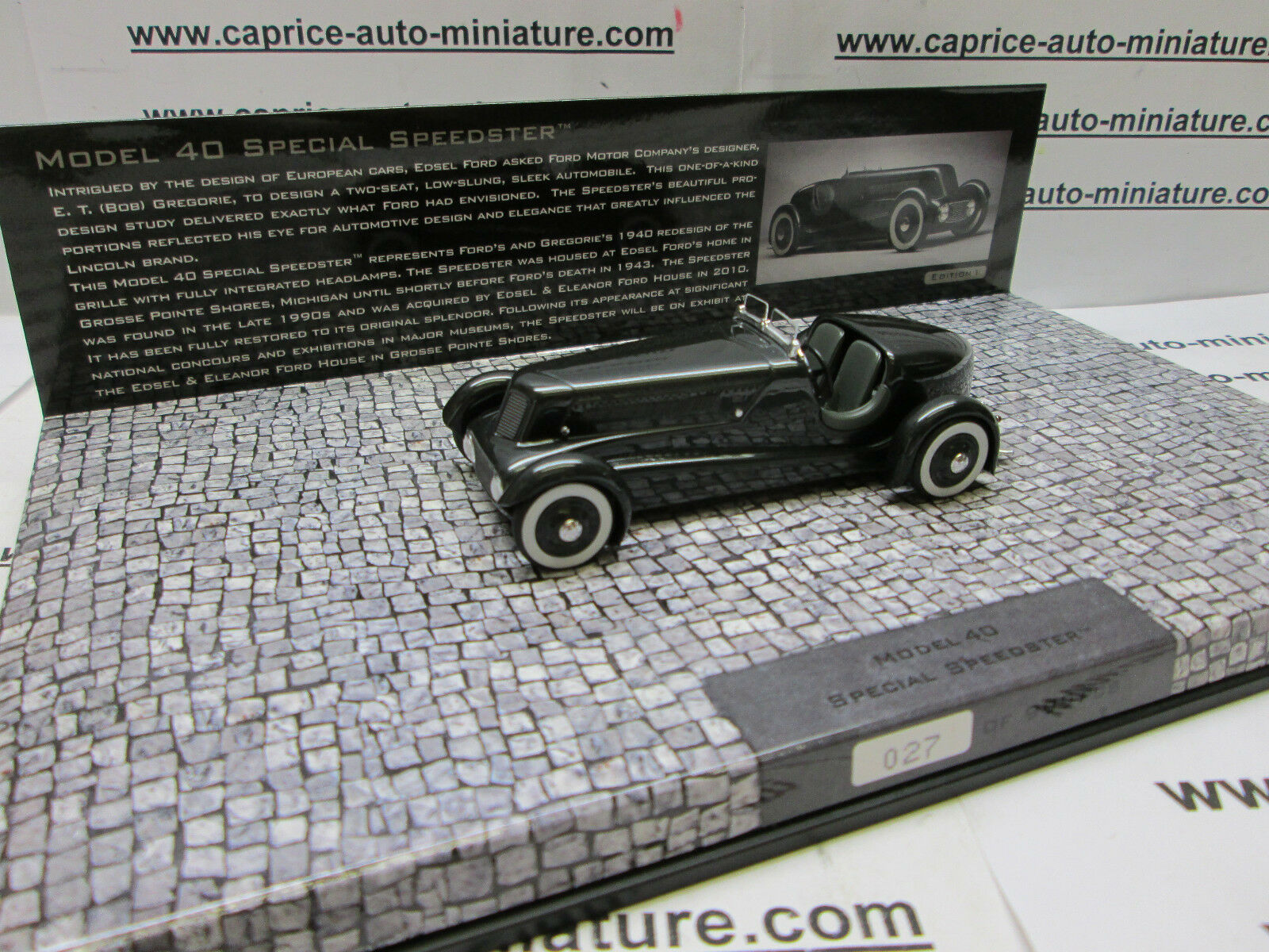 FORD MODEL 40 SPECIAL SPEEDSTER    LIMITED 999 EX.   MINICHAMPS 1 43  bénéfice nul