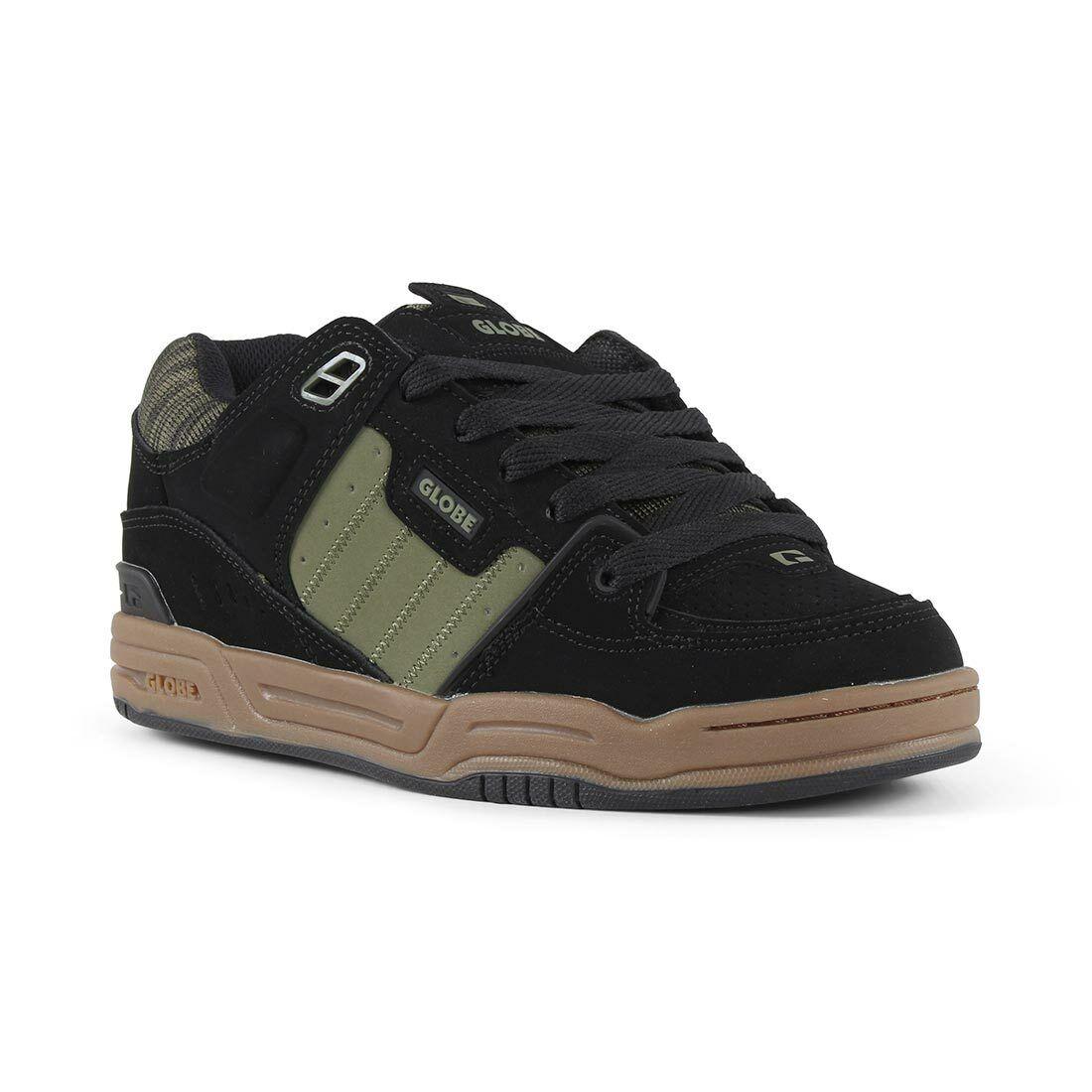 Globe Fusion shoes - Black   Olive   Knit