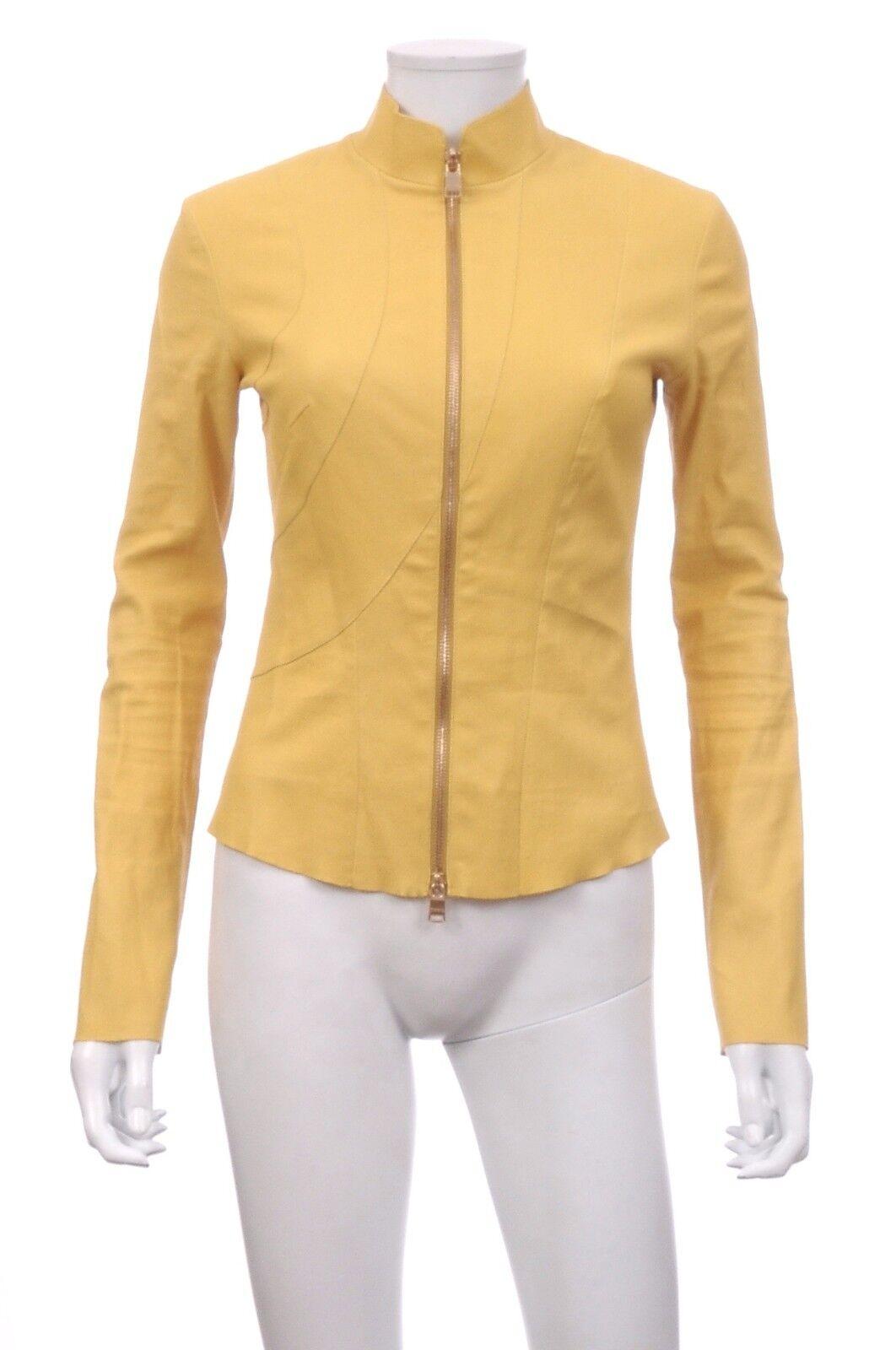 Jitrois Veste En Cuir D'agneau   yellow   prix de vente recommandé