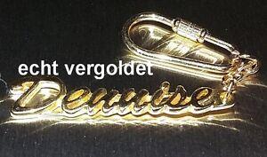Uhren & Schmuck Edler SchlÜsselanhÄnger Dennise Vergoldet Gold Name Keychain Weihnachtsgeschenk Büro & Schreibwaren
