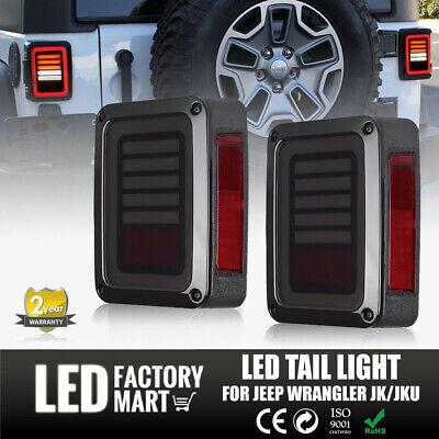 2X LED Tail Lights Reverse Rear Brake Turn Signal For 2007-2018 Jeep Wrangler JK