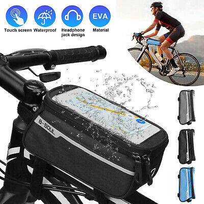 Cycling Bike Bicycle Front Top Tube Frame Bag Screen MTB Phone Holder Case