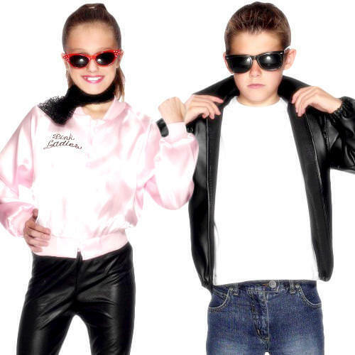 Grease Kids Fancy Dress 50s 1950s Musical Movie Rock n Roll Child Costume Jacket