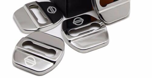 1PCS AUTO DECORATIVE ACCESSORIES Metal CAR DOOR LOCK PROTECTIVE COVER For Nissan