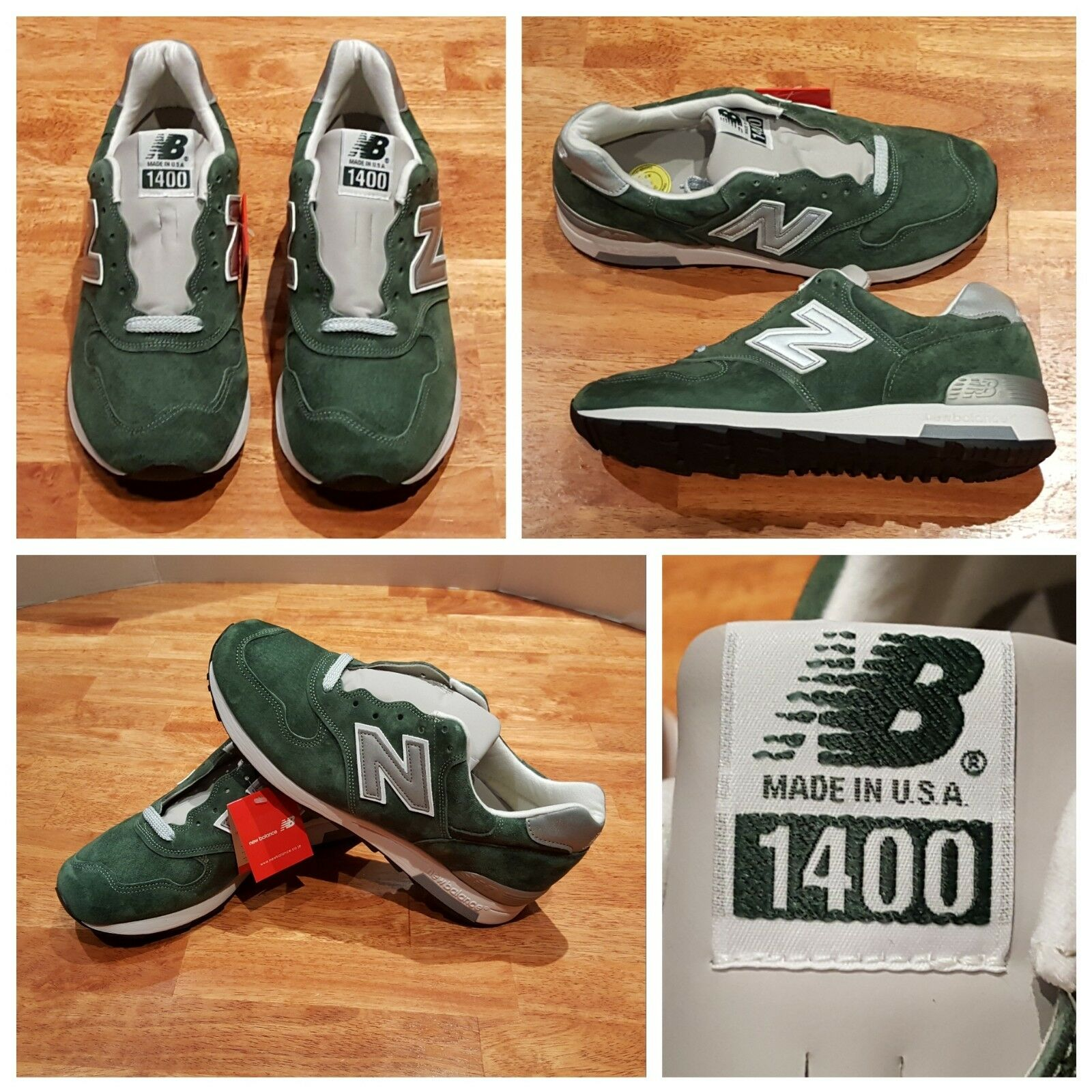 NEW  NB New Balance M1400MG Forest Green, Made In USA Sz 10 Men's
