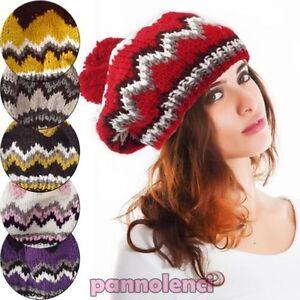 Femme-Chapeau-Tricot-Hivernal-Pompon-Casquette-Neuf-Idee-Cadeau-As-123