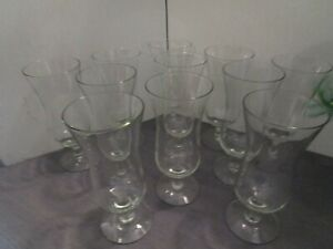 MCM-Glassware-Vintage-Clear-Parfait-Glasses-Set-of-11-EUC-7-oz